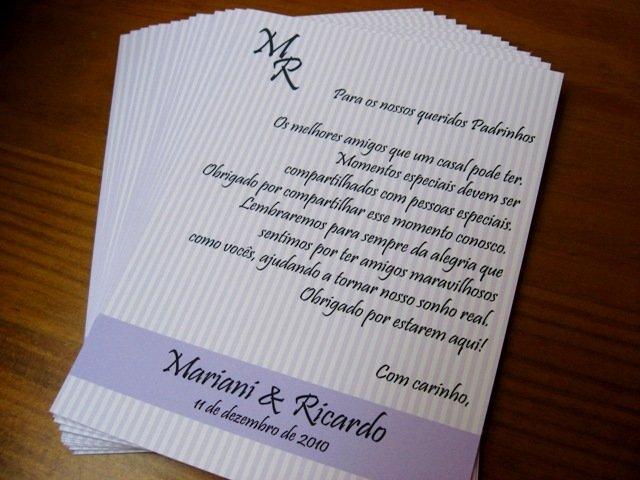 Mensagens Para Cartão De Casamento: Mensagem Agradecimento Padrinhos Casamento